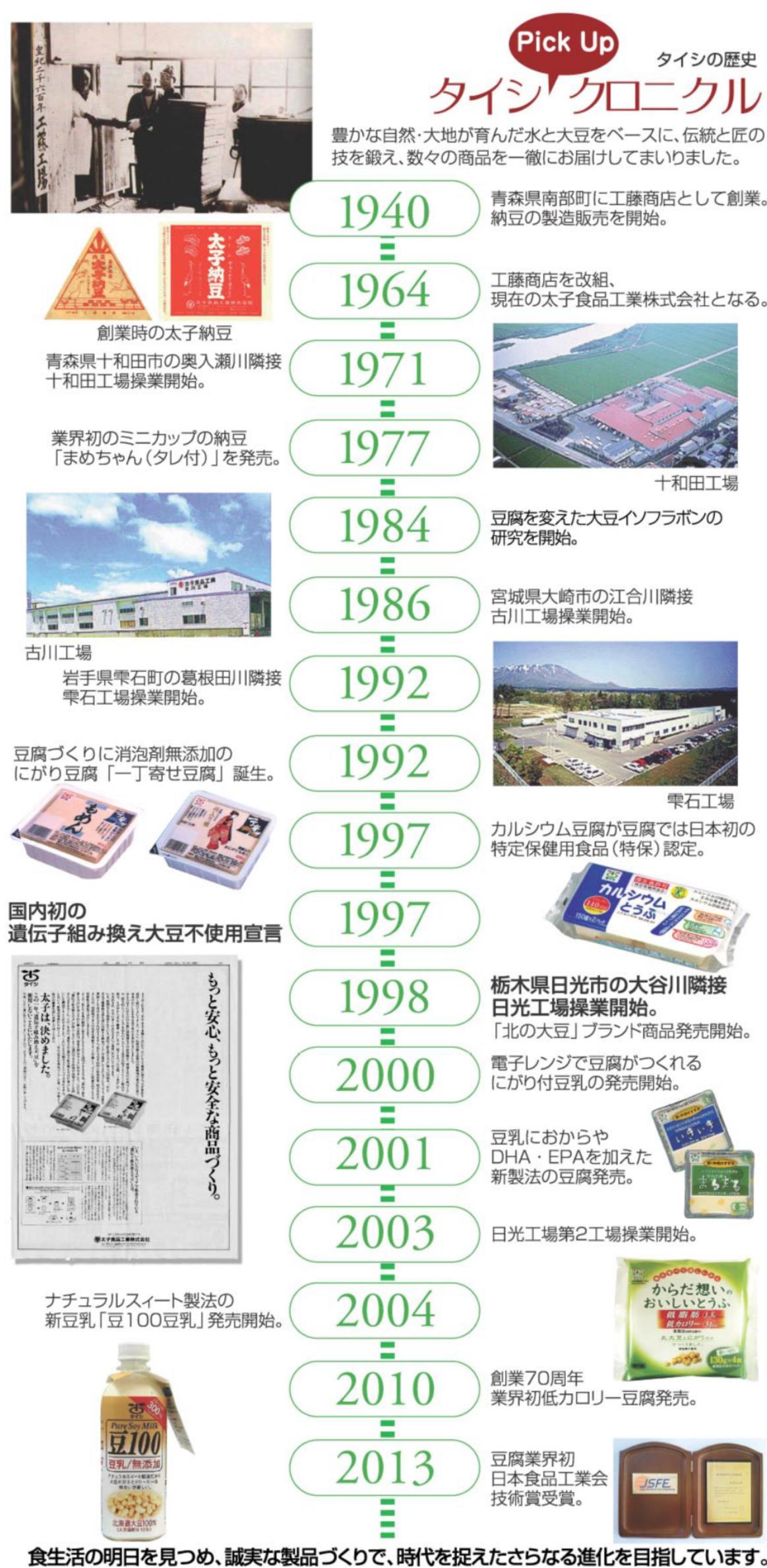 """""""業界初""""はタイシから「タイシクロニクル」"""